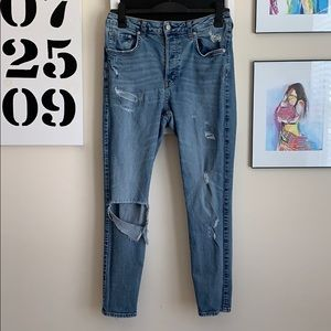 Vintage Skinny Distressed Jeans